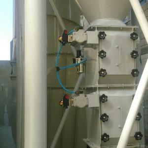 Válvula de descarga duplo basculante