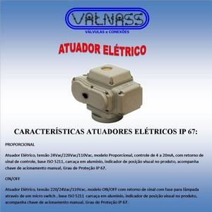 Atuador elétrico para válvula